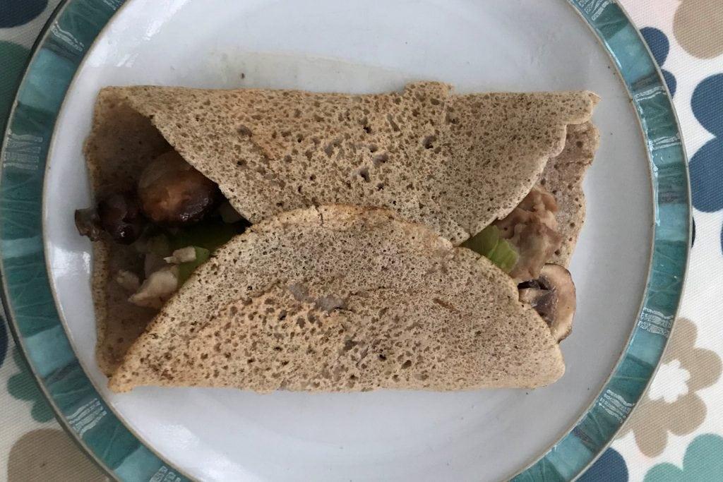 Gluten free buckwheat pancake